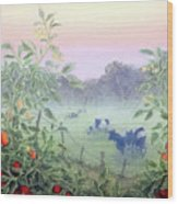 Tomatoes In The Mist Wood Print