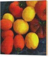 Tomatoes Matisse Wood Print