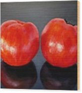 Tomatoes Original Oil Painting Wood Print