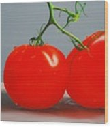 Tomatoes With Stems Wood Print