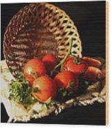 Tomatos. Out Of Basket. Wood Print