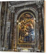 Tomb Of Pope John Paul II In St Peter's Basilica Wood Print