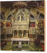 Tomb Of Saint Eulalia In The Crypt Of Barcelona Cathedral Wood Print