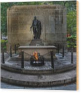 Tomb Of The Unknown Revolutionary War Soldier - George Washington  Wood Print by Lee Dos Santos