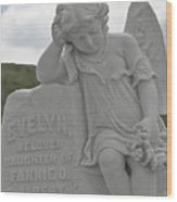 Tombstone Angel For An Angel Wood Print by Christine Till