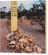 Tombstone Boot Hill Wood Print
