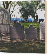 Tombstones Wood Print