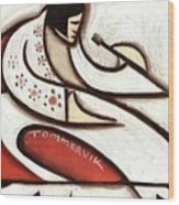 Tommervik Elvis Red Cape Art Print  Wood Print