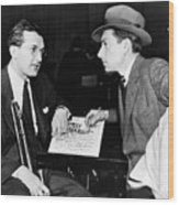 Tommy Dorsey And Hoagy Carmichael, 1939 Wood Print