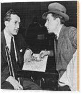 Tommy Dorsey And Hoagy Carmichael, 1939 Wood Print by Everett