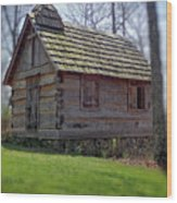 Tom's Country Church And School Wood Print