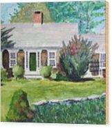 Toms House Wood Print