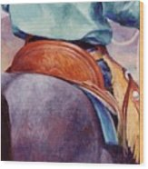 Toms Saddle Western Painting Cowboy Art Wood Print