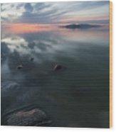 Tonal Sunset II Wood Print