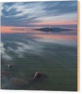 Tonal Sunset Wood Print