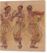 Tonga Dance From Niuafo'ou Wood Print