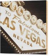 Tonight In Vegas Wood Print