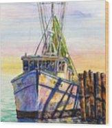 Tonyo Shrimp Boat Wood Print