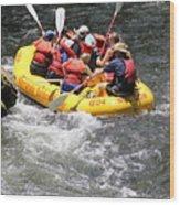 Too Close Rafting Wood Print