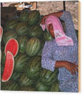 Too Hot To Sell Watermelons Wood Print