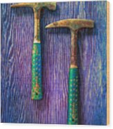 Tools On Wood 65 Wood Print