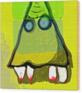 Tooth_monster_1d Wood Print
