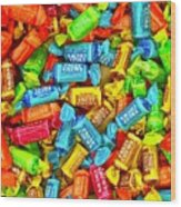 Tootsie Fruit Chews Wood Print