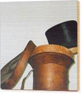 Top Hat Wood Print