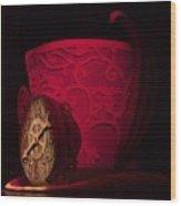 Top Hat Red Dream Wood Print