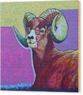 Top Heavy Big Horn Wood Print