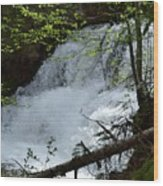Top Of Clear Creek Falls Wood Print