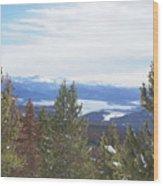 Top Of Gravel Mountain Wood Print
