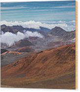 Top Of Haleakala Crater Wood Print