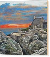 Top Of Table Mountain Wood Print