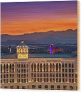 Top Of The Bellagio After Sunset Wood Print