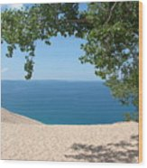 Top Of The Dune At Sleeping Bear Wood Print