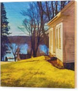 Top Of The Hill, Friendship, Maine Wood Print