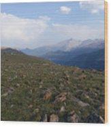 Top Of The Rockies Wood Print
