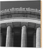 Top Portion Of A Lincoln Memorial Old Greek Architecture Wood Print