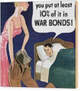 Top That -- Ww2 Propaganda Wood Print