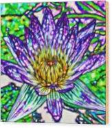 Top View Of A Beautiful Purple Lotus Wood Print