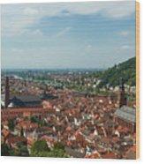 Top View Of Heidelberg, Germany. Wood Print