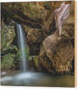 Topanga Grotto Wood Print