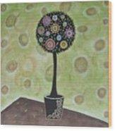 Topiary 1 Wood Print