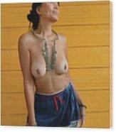 topless Black Hmong 2 Wood Print