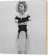 Topless Woman With Long Gloves, C.1950s Wood Print