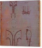Topophone Patent Drawing 1e Wood Print