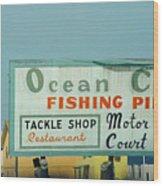 Topsail Island 1996 Ocean City Wood Print