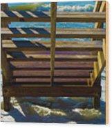 Topsail Island Ocean Steps Wood Print