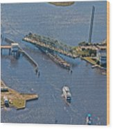 Topsail Swing Bridge Wood Print